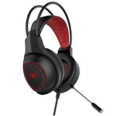 Havit Gamenote H2239d gaming slušalke, črna-rdeča