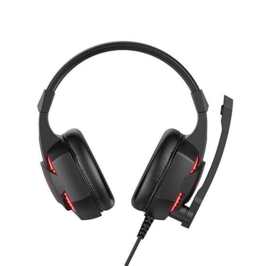 Havit Gamenote H2032 gaming slušalke 3.5mm, črna/rdeča