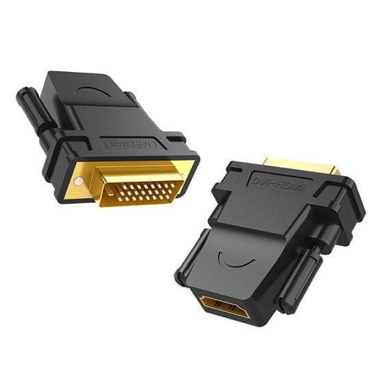 Ugreen 20124 adapter DVI - HDMI, M/F, črna