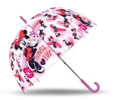 """EUROSWAN Automatikus esernyő átlátszó """"Minnie éger"""" - rózsaszín"""