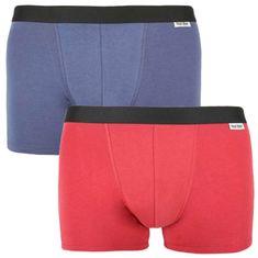 Nur Der 2PACK pánské boxerky vícebarevné (827756 - DK.BL/RO D BL) - velikost M