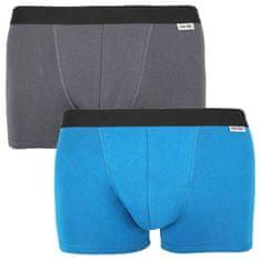 Nur Der 2PACK pánské boxerky vícebarevné (827756 - grau/blau) - velikost L