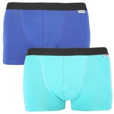 Nur Der 2PACK pánské boxerky vícebarevné (827756 - navy/turkis) - velikost XL