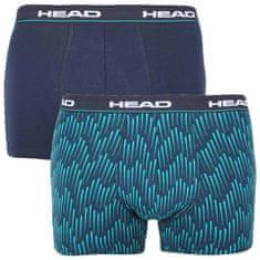 Head 2PACK pánske boxerky modré (100001415 001) - veľkosť M