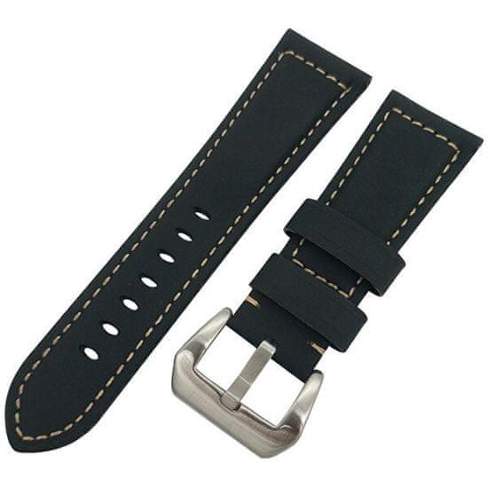 4wrist Kožený řemínek pro Samsung Galaxy Watch - Černý 20 mm