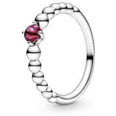 Pandora Stříbrný prsten pro ženy narozené v červenci 198867C02 (Obvod 54 mm) stříbro 925/1000