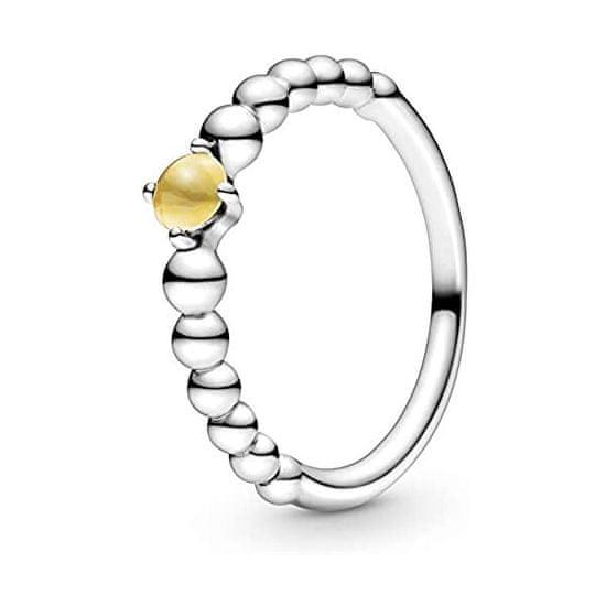 Pandora Stříbrný prsten pro ženy narozené v listopadu 198867C11 stříbro 925/1000