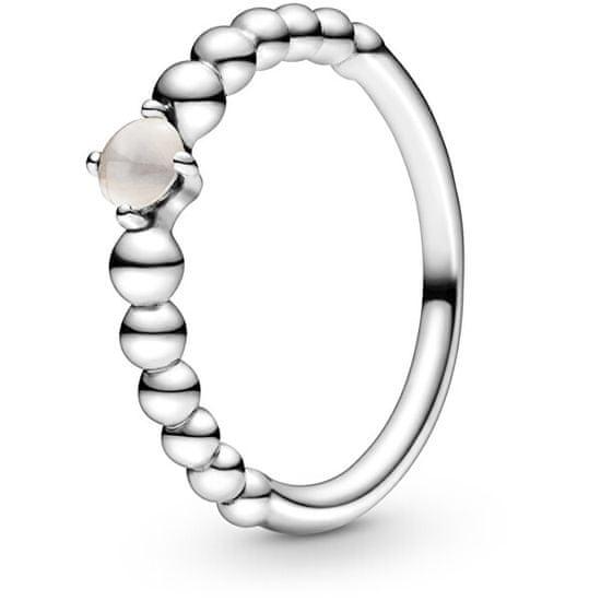 Pandora Stříbrný prsten pro ženy narozené v červnu 198867C06 stříbro 925/1000