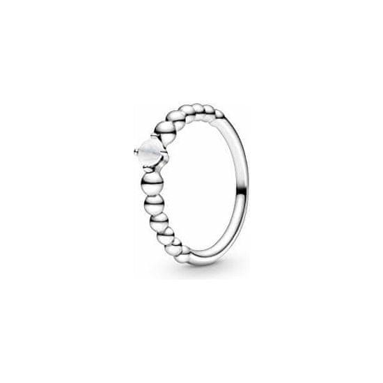 Pandora Stříbrný prsten pro ženy narozené v dubnu 198867C04 stříbro 925/1000