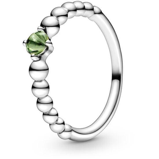 Pandora Stříbrný prsten pro ženy narozené v srpnu 198867C10 stříbro 925/1000