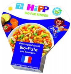 HiPP BIO Zelenina zo záhradky s morčacím mäsom a rozmarínom od 1 roku, 6 x 250 g
