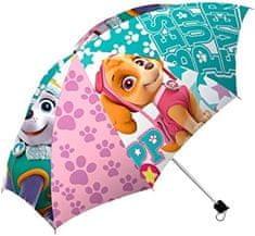 """EUROSWAN Mechanikus összecsukható esernyő """"Mancs örjárat"""" - rózsaszín"""