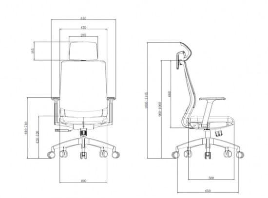Hyle K3-GH-BCJIT pisarniški stol, sivo-siv