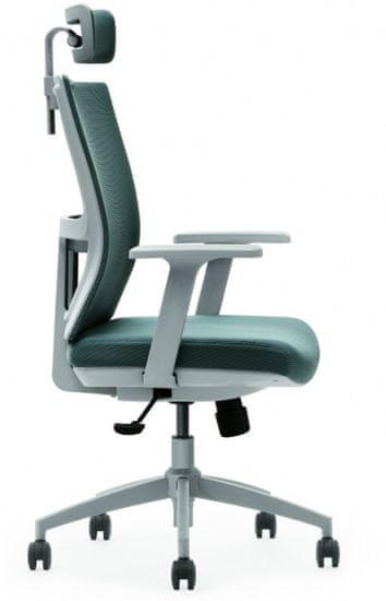 Hyle M1-GAK Petrol pisarniški stol, modro-siv