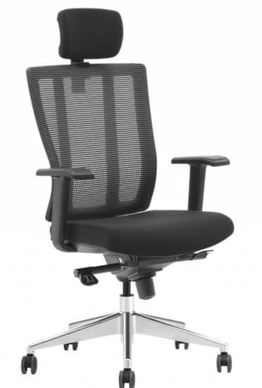 Hyle X3-55AK-MF pisarniški stol, črn
