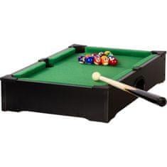 shumee Mini kulečník pool s příslušenstvím 51 x 31 x 10 cm - černý