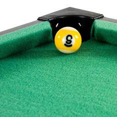 shumee Mini kulečník pool s příslušenstvím 51 x 31 x 10 cm - tmavý