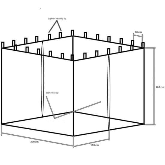 shumee Moskytiéra pre záhradný stan INSTENT 3 x 3 m - čierna