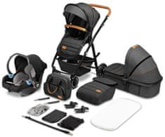 Lionelo Amber 3v1 kombiniran otroški voziček, grey graphite