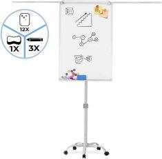 shumee Flipchart tabule na kolečkách, bílá, 60 x 90 cm