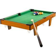shumee Mini kulečník pool s příslušenstvím 92 x 52 x 19 cm - světlý