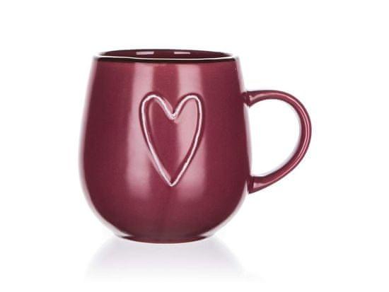 Banquet Heart keramična skodelica, 500 ml
