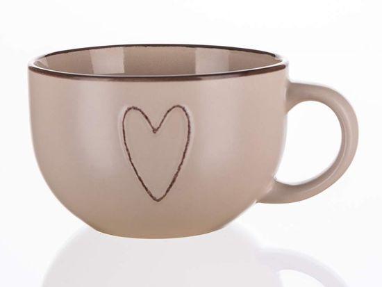 Banquet Heart jumbo keramična skodelica, 730 ml