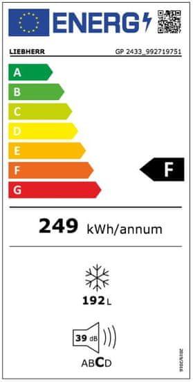 Liebherr mraznička GP 2433 + 5 let prodloužená záruka