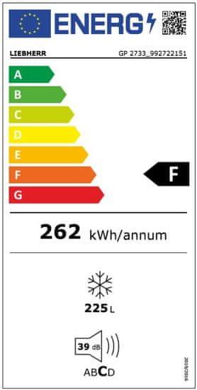 Liebherr mraznička GP 2733 + 5 let prodloužená záruka