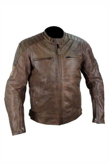 Cappa Racing Pánská kožená bunda moto DALLAS– hnědá