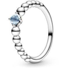 Pandora Stříbrný prsten pro ženy narozené v březnu 198867C01 (Obvod 56 mm) stříbro 925/1000