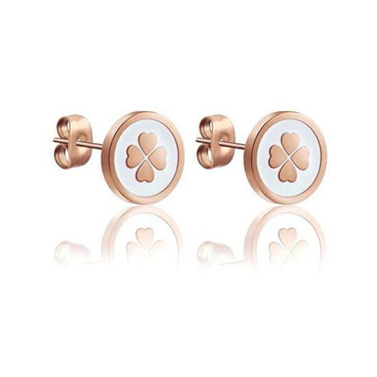 VictoriaWallsNY Gyengéd bronz fülbevaló a jó szerencséhez VE1108R