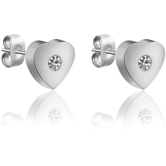 VictoriaWallsNY Romantikusacél fülbevalók Szív VE1111S