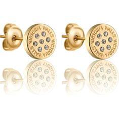 VictoriaWallsNY Błyszczące złoconeKolczykisztyftyz kryształkami VE1114G