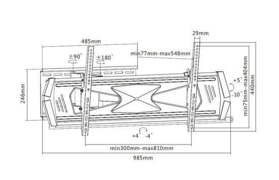 MAX MTM3090FM nosilec za LCD/LED TV 37-70