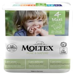 MOLTEX Plenky Pure & Nature Maxi 7-18 kg - ekonomické balení (6 x 29 ks)