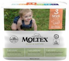 MOLTEX Plenky Pure & Nature Midi 4-9 kg - ekonomické balení (6 x 33 ks)