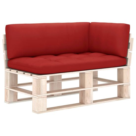 shumee Poduszki na sofę z palet, 3 szt., czerwone