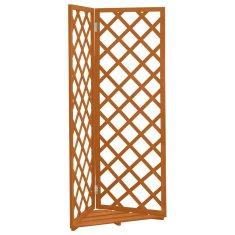 shumee Kotna mreža oranžna 50x50x145 cm trden les jelke