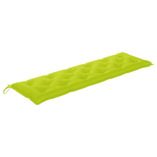 shumee élénkzöld szövet kerti padpárna 180 x 50 x 7 cm