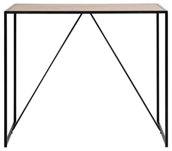 Design Scandinavia Barový stôl Seaford I., 120 cm, divoký dub