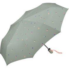 Esprit Ženski zložljivi dežnik Easymatic Light In Love 53300 skrilavo siv