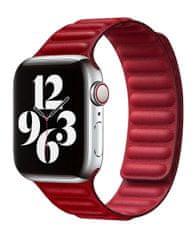 Coteetci Double Suction bőr óraszíj Apple Watch-hoz 42/44 mm WH5293-RD, piros