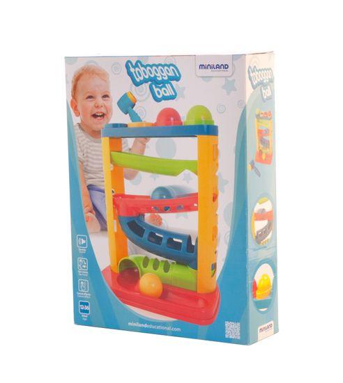 Miniland Baby Barvna steza s kroglicami in kladivom, 12m-3r