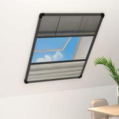 shumee Plisovaná okenná sieťka proti hmyzu s roletou, hliník 80x120 cm