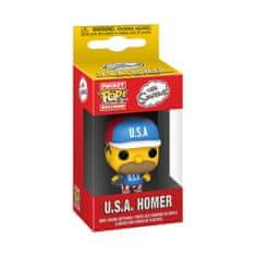 Funko Klíčenka Simpsons S6 - USA Homer