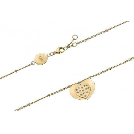VictoriaWallsNY Romantikus aranyozott karkötő kristályokkal VB1087G