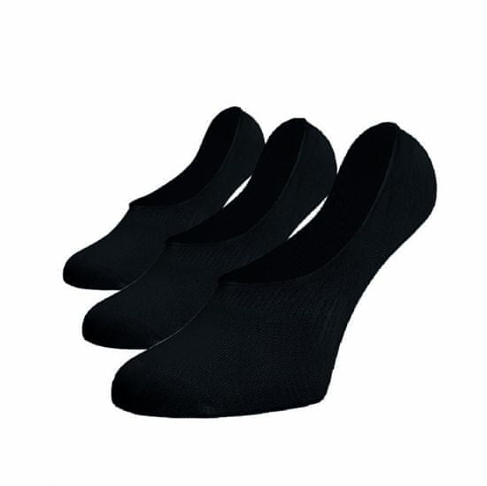 BENAMI Neviditelné ponožky ťapky černé 3pack Černá Bavlna 35-38