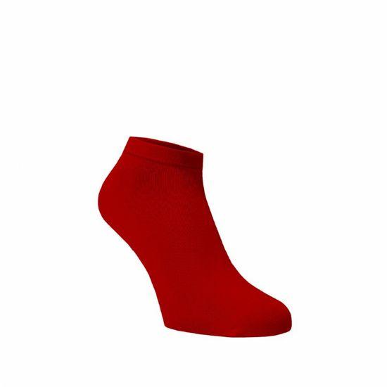 BENAMI Bambusové kotníkové ponožky Červené Červená Bambus 35-38