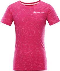 ALPINE PRO dekliška majica Gango 3, 104 - 110, roza